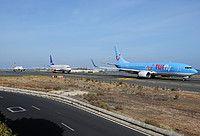 TUIfly Nordic Boeing 737-8K5(WL) SE-RFT aircraft, skating at Spain Gran Canaria (Las Palmas) Airport. 02/11/2016.