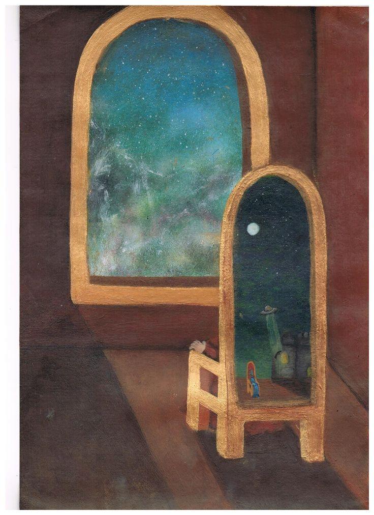 window painting of alternate realities