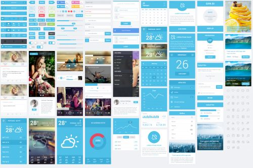 Huge Mobile User Interfaces Kit PSD
