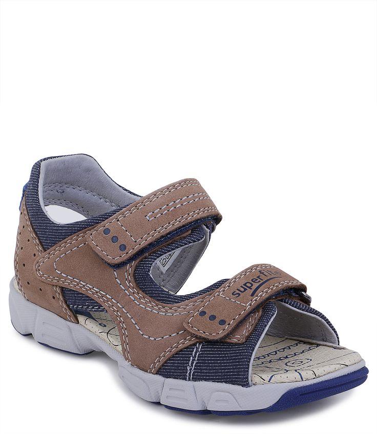 Купить сандалии открытые для мальчика Superfit летние коричневые в интернет-магазине Kinderly - артикул SP-4-00184-33