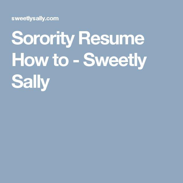 Ponad 25 najlepszych pomysłów na Pintereście na temat tablicy - sorority resume