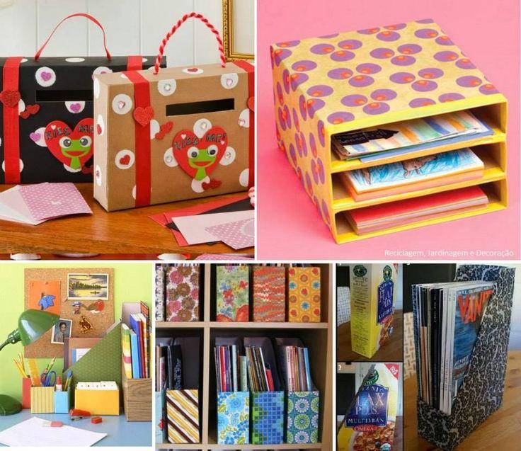 Caixas de cereal podem ser reutilizadas como pastas de documentos coloridas e divertidas: - See more at: http://www.blogcreative.com.br/2014/02/dicas-simples-de-organizacao.html#sthash.KHhtAqUV.dpuf