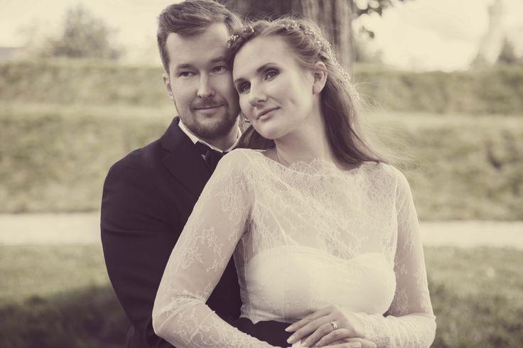 Sheer Lace Wedding Dress, Beautiful Lace, Long Sleeves Wedding Dress, Dress by Ellen Aga, Photo by Anniken Slette Hannevik