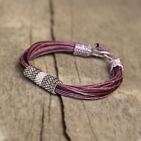 Hedendaagse sieraden Hippie armband Eco van Naryajewelry op Etsy