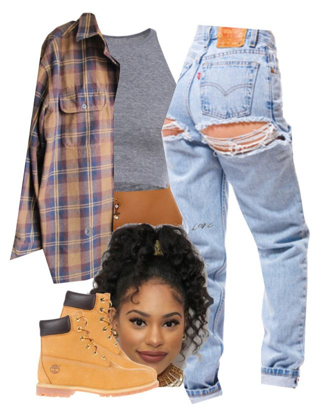 """The 90's are all that 2"" by trillest-fashion on Polyvore featuring Timberland"
