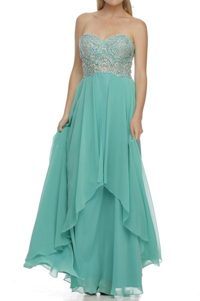 Sweetheart Prom Dress JT553 This Formal Prom Dress features Straplaess Sweetheart Neckline, Fully Beaded Top with Open Zippered Back and Full Length A-Line, Softly Gathered Skirt. https://www.smcfashion.com/wholesale-prom-dresses/prom-dress-jt553