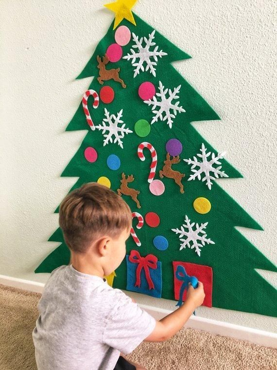 Sale Felt Christmas Tree Kit Black Friday In Advance Christmasdecorations Diy Felt Christmas Tree Christmas Tree Kit Felt Christmas Tree