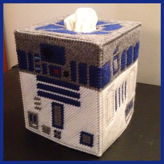 Star Wars R2D2 Tissue Box Cover by K8BitHero on Etsy, $25.00