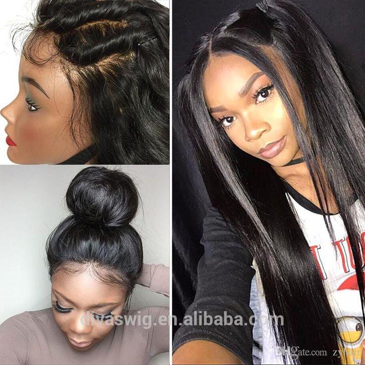 Long Straight Peruvian Full Lace Human Hair Wigs For Black Women 100 Unprocessed Glueless Full Lace Peruvian Virgin Hair Wig