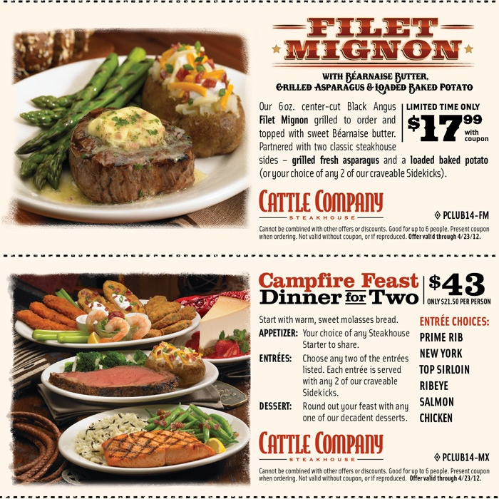 Cattle company coupons