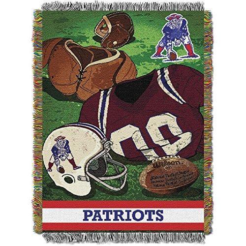 NFL Superbowl LI Champion New England Patriots Vintage Throw Blanket Pats Super Bowl 51 Football Gear Team Spirit Winner NE Patriot Sports Logo Fan
