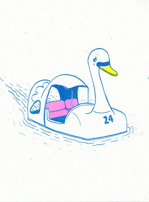 risograph print by Ashley Ronning
