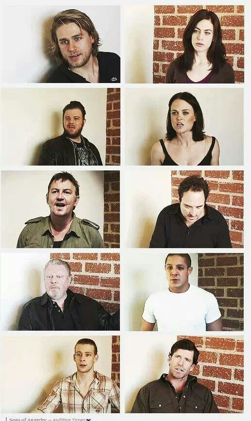 Look at them all... This was all when they were auditioning to be in SOA!!