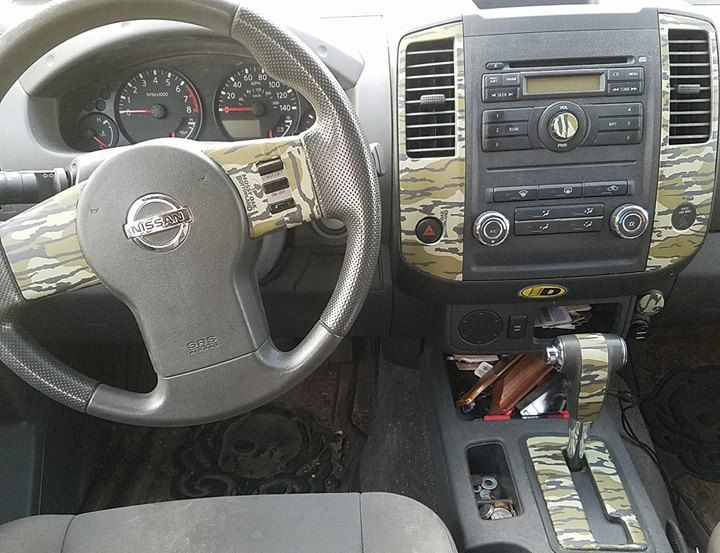 James Used Original Bottomland To Cover The Interior Dash Of His Truck And We Re Obsessed Car Interior Camo Cover