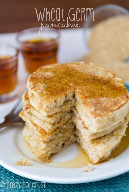 Wheat Germ Pancakes - a healthier pancake although with the sweetness and fluffiness you'd never know it! | crazyforcrust.com