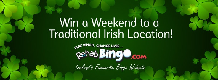 Anyone in need of some R? We've got just the thing, we're giving all our lovely Facebook fans a chance to win a getaway to a traditional Irish location (where you can put your feet up and enjoy Rehab Bingo in peace...) Click on the image for details