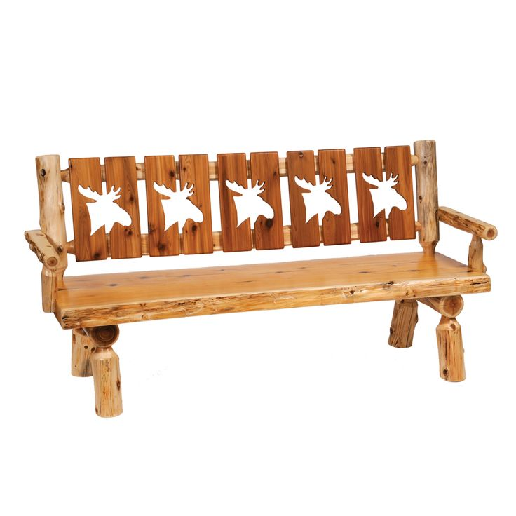 Shop Fireside Lodge Furniture  1613 Cedar Cut-Out Log Bench at ATG Stores. Browse our entryway benches, all with free shipping and best price guaranteed.