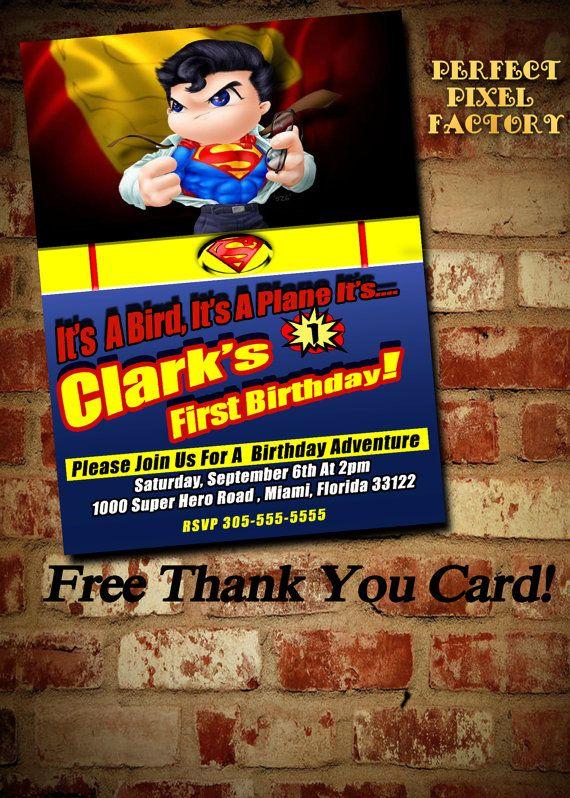 SUPERMAN INVITATIONSuperman Birthday Comic by PerfectPixelFactory