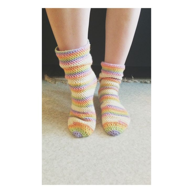 Crochet tubesocks for myself.❤️
