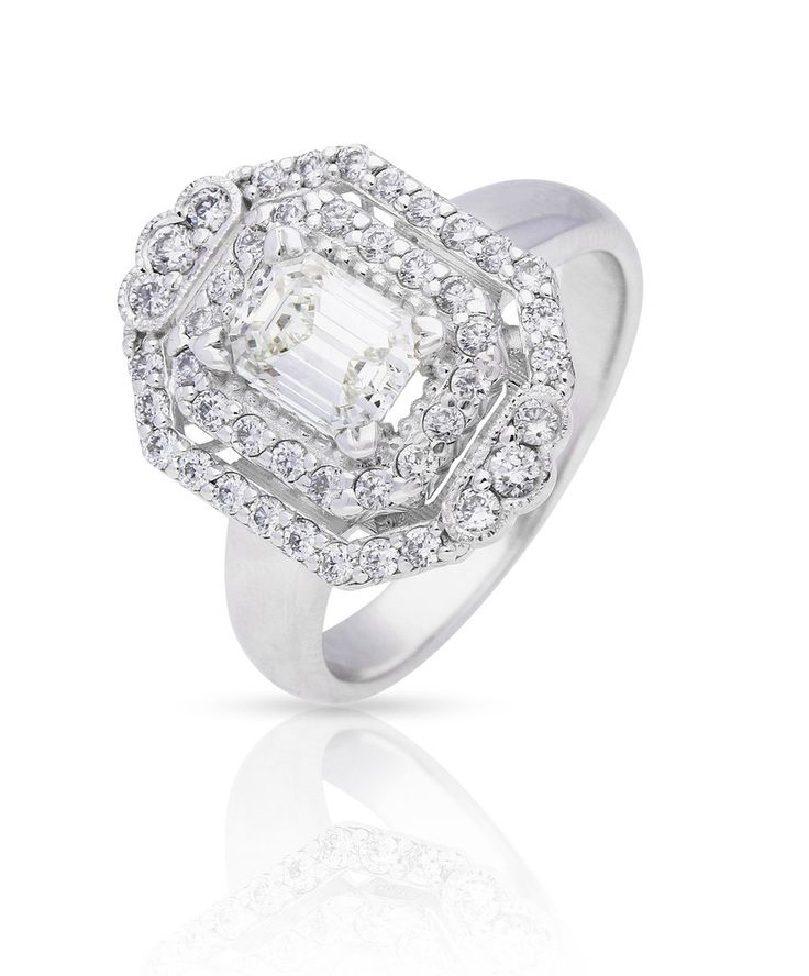 Winter Magic - the Elizabeth Engagement Ring in 18ct white gold and set with diamonds by Jenna Clifford