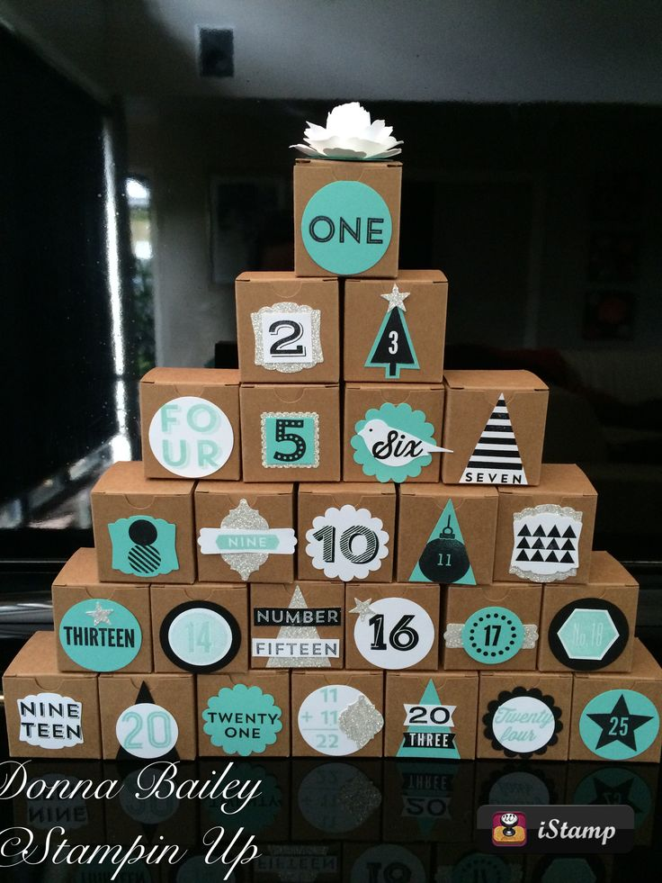 Stampin up 25 Day Stamp Set advent boxes