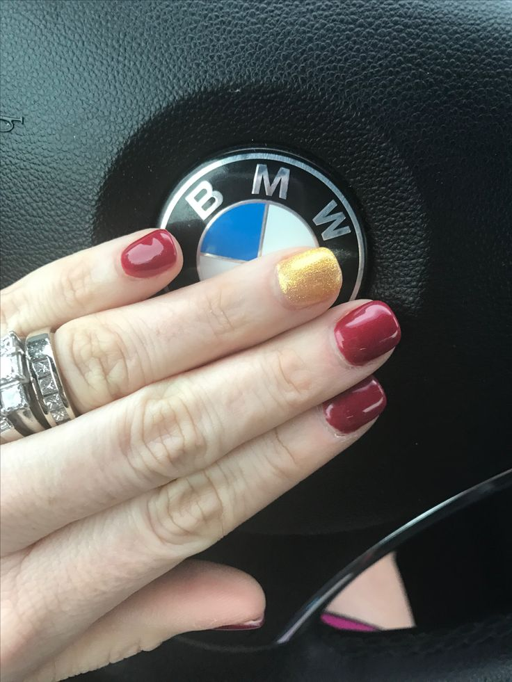 Got my nails done for our day trip to Tallahassee to see the FSU game...Go Noles!