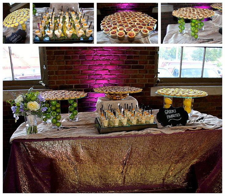 Ashley's Creative Catering Real Wedding: Hatfield-Smith Mini Dessert Station