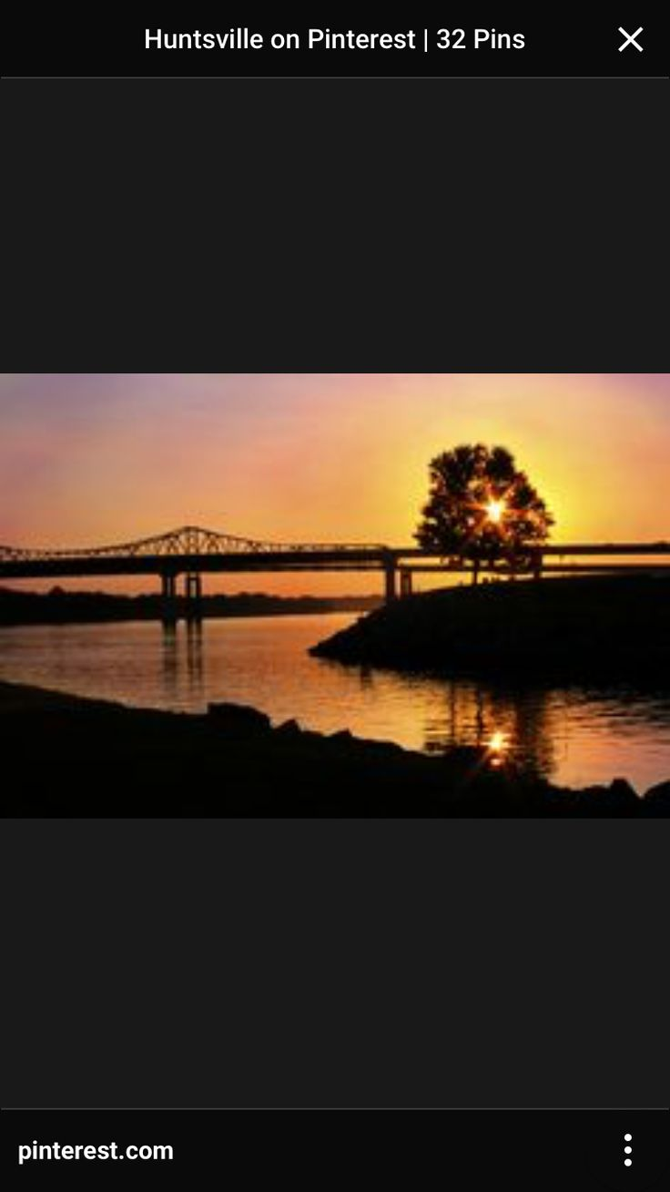 Where me and scotty got married :) Ditto Landing, Tennessee River, Sunset,  Huntsville, Alabama