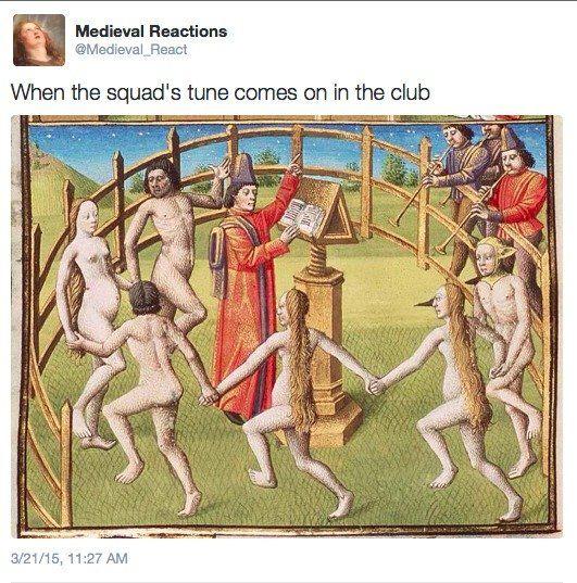 Medieval Reactions tweets