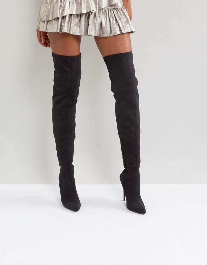 a9347ed81fc Truffle Collection Stiletto Thigh High Boot