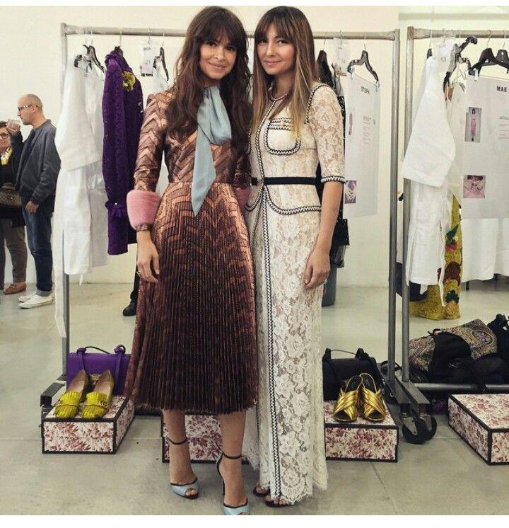 Miroslava Duma in Gucci and Nasiba Adilova.
