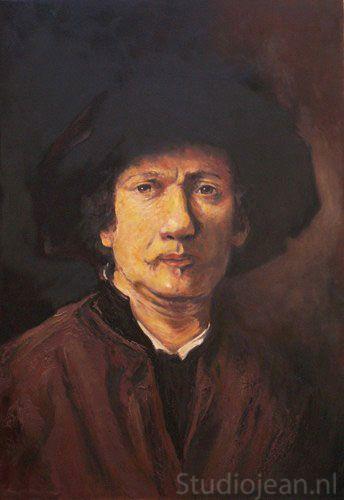 Rembrandt self portrait 1652 by Jean Elliot