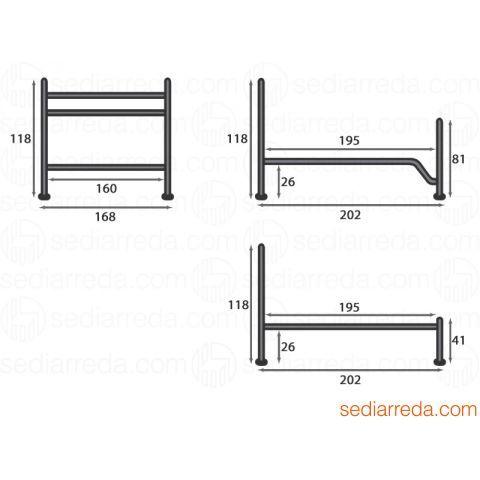 Giusy - Medidas de la cama matrimonial 168x202 cms, altura de la cabecera 118 cms (útil para somier de 160x190 cms)