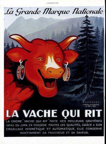 La Vache Qui Rit - 1929 - Benjamin Rabier ……re pinned by Maurie Daboux ♪ ♪