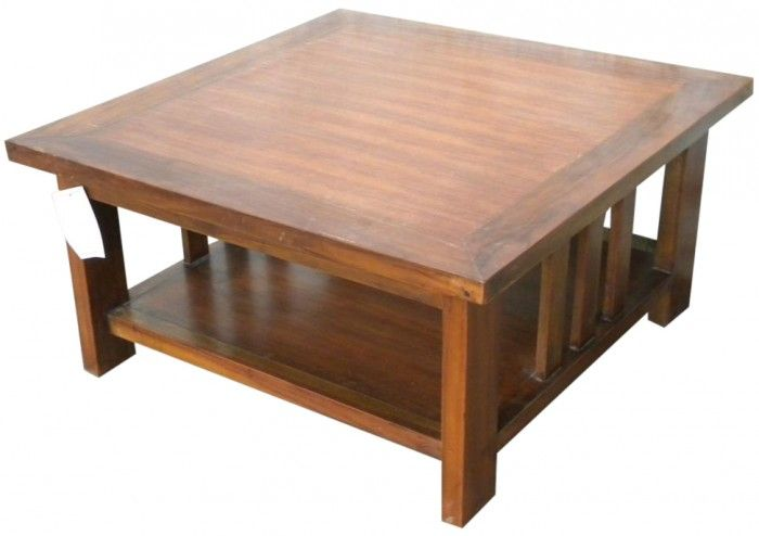 Tavolo basso in mogano 80x80x40 codice SM7864 | Etnicart