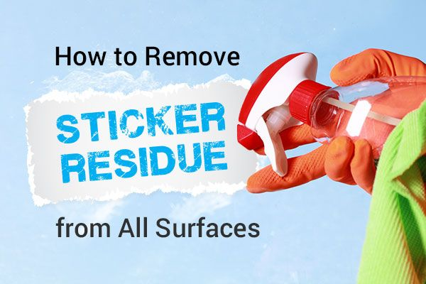 Removing old labels or stickers can be a pain! Check out these quick tips for removing sticker gunk using household items.