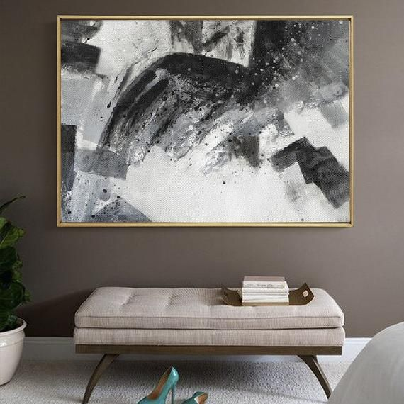 Extra Large Wall Art Canvasblack And White Canvas Wall Etsy Extra Large Wall Art Wall Canvas Deco Paint