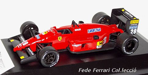 Ferrari F1-88C Turbo nº28 de Gerhard Berger de 1988. Modelo realizado por IXO para Altaya a escala 1:43