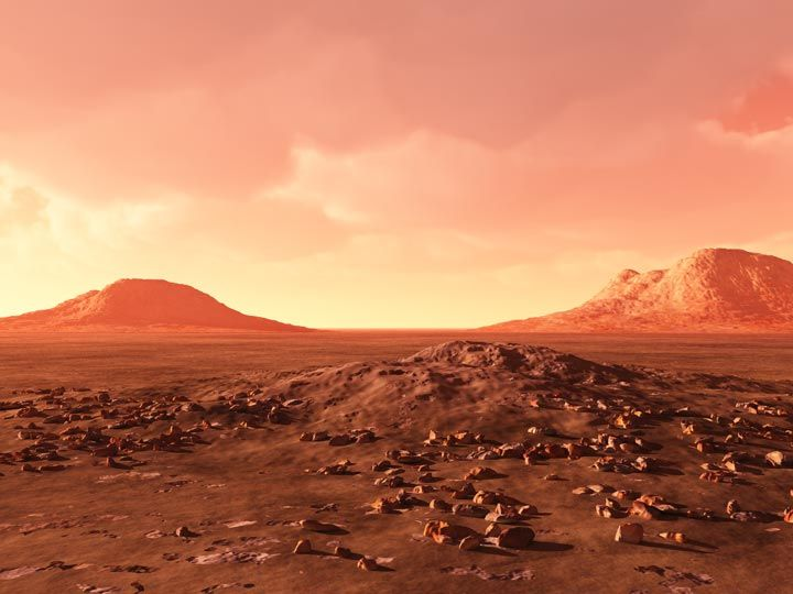 Martian Landscape | Red Desert | The martian, Landscape, Mars