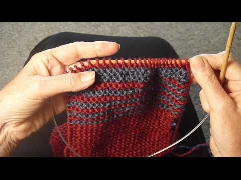 how to change colors when knitting without cutting