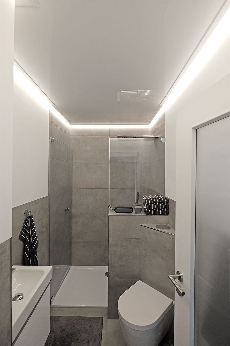 Indirect Lighting For Soft And Pleasant Light In The Bathroom