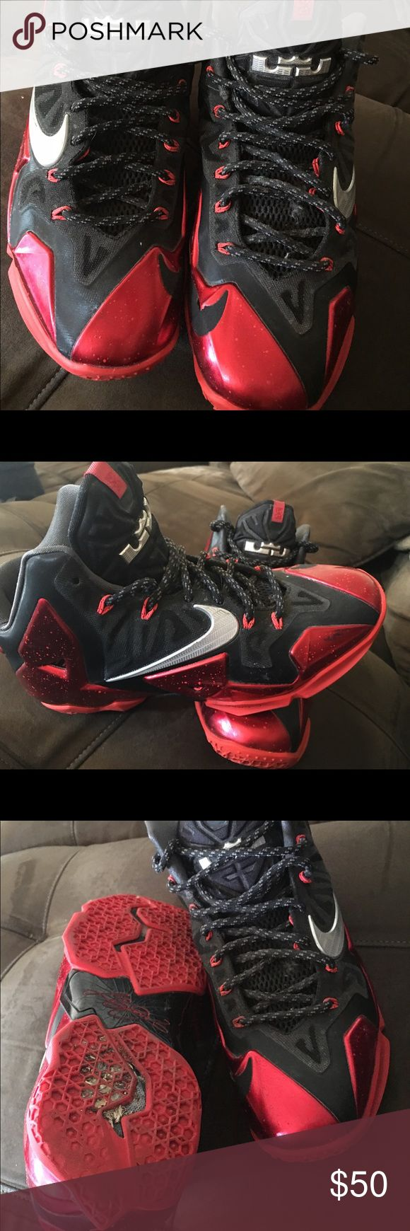 Lebron 11's Miami Heat Aways Lebron 11's. MIAMI HEAT AWAYS. Small scuff on front side. Nike Shoes Sneakers