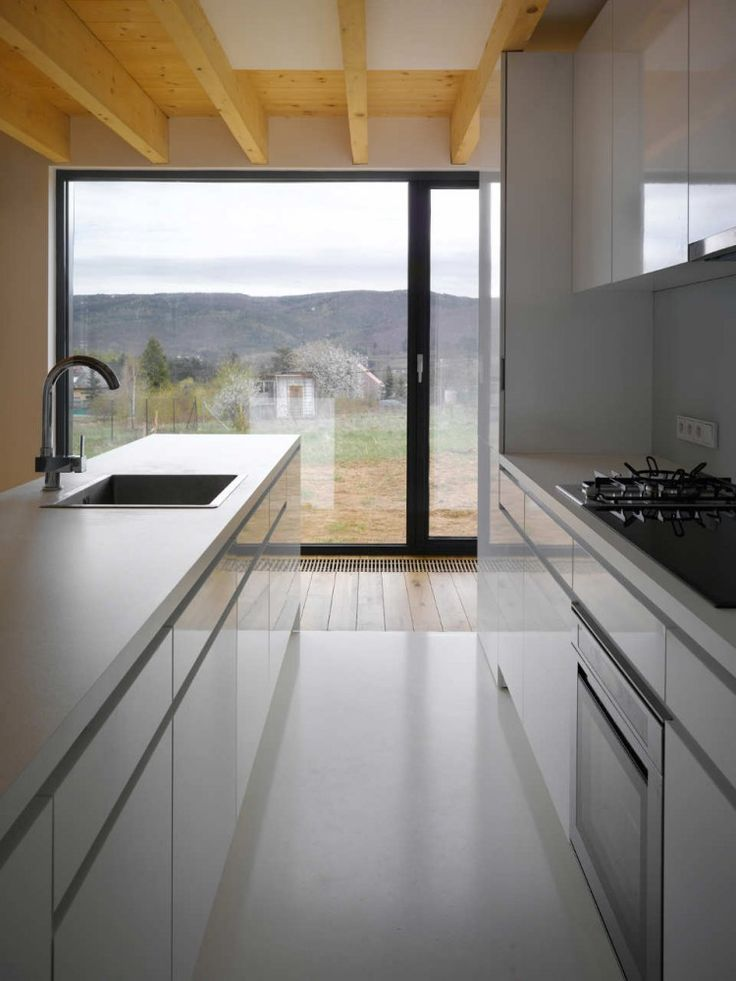 Family House in Lety / studio pha. In its effect, the resulting appearance of the house is minimal, even ascetic, grounded merely in the refinement of the chosen natural materials, the composition of windows, the mastery of proportional relations and purity of detail.