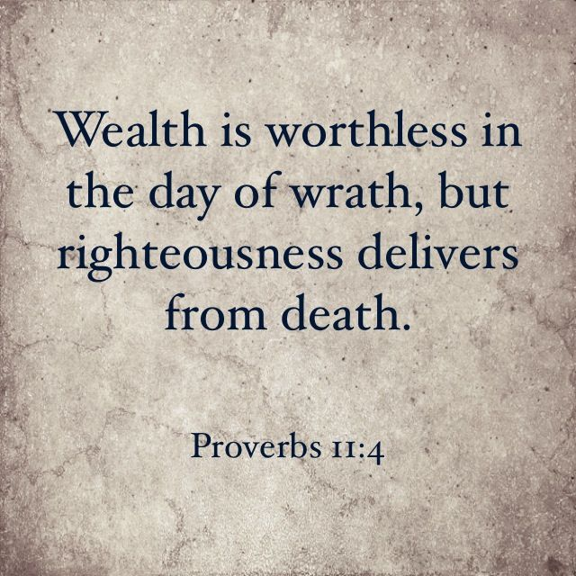 Wealth is worthless