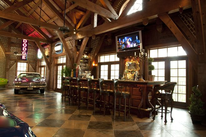 486 best images about man caves garages on pinterest for Luxury garage interiors