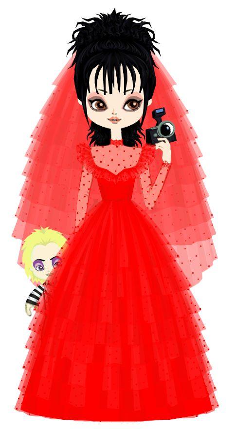 Lydia Deetz in her Wedding Dress by marasop