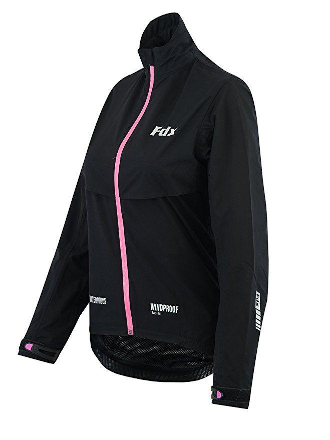FDX Womens Waterproof Cycling Jacket Breathable Lightweight Ladies Running Coat
