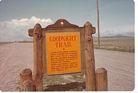 The 2,000-mile Goodnight-Loving Trail extended from the Texas Panhandle and into Colorado as it headed north into Wyoming.
