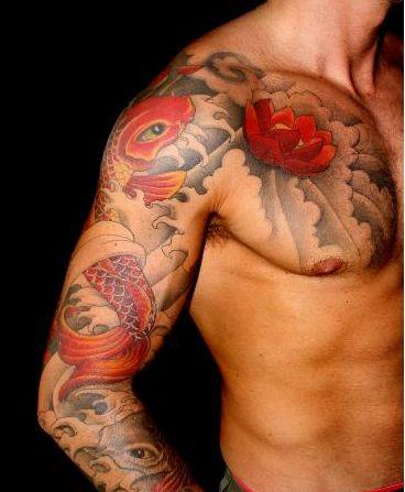 Tatto koi fish