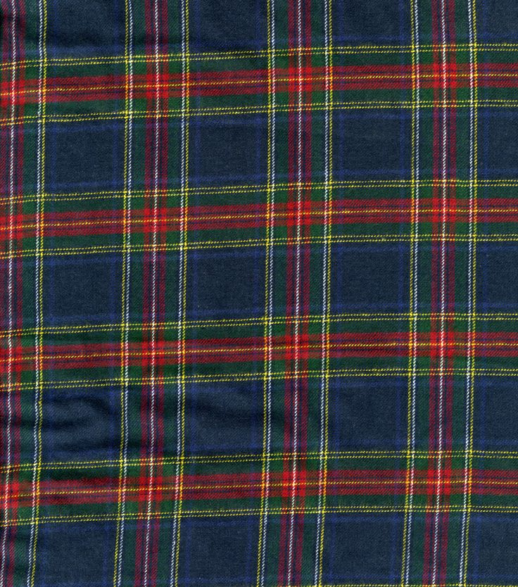 Plaid Flannel Fabric Royal Stewart -- Kilt fabric